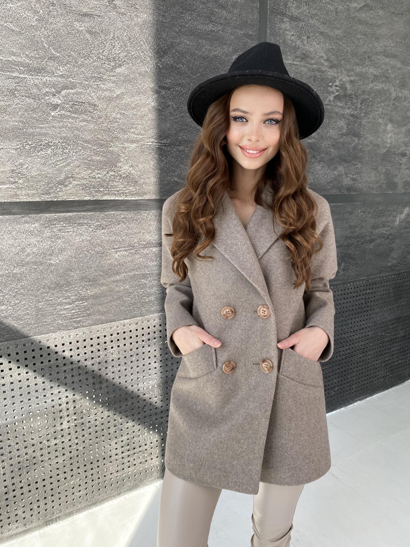 Бонд пальто  кашемировое меланж на трикотаже  10644 АРТ. 47178 Цвет: Бежевый 28 - фото 5, интернет магазин tm-modus.ru