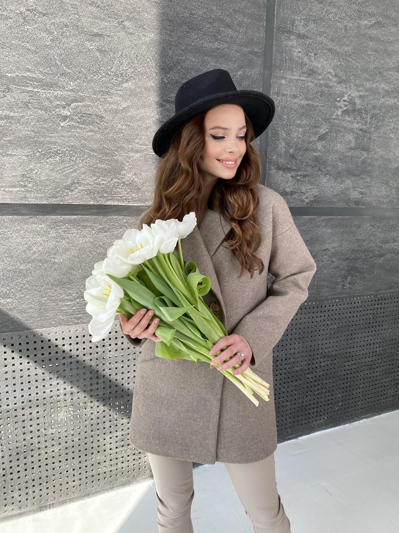 Бонд пальто  кашемировое меланж на трикотаже  10644 АРТ. 47178 Цвет: Бежевый 28 - фото 7, интернет магазин tm-modus.ru