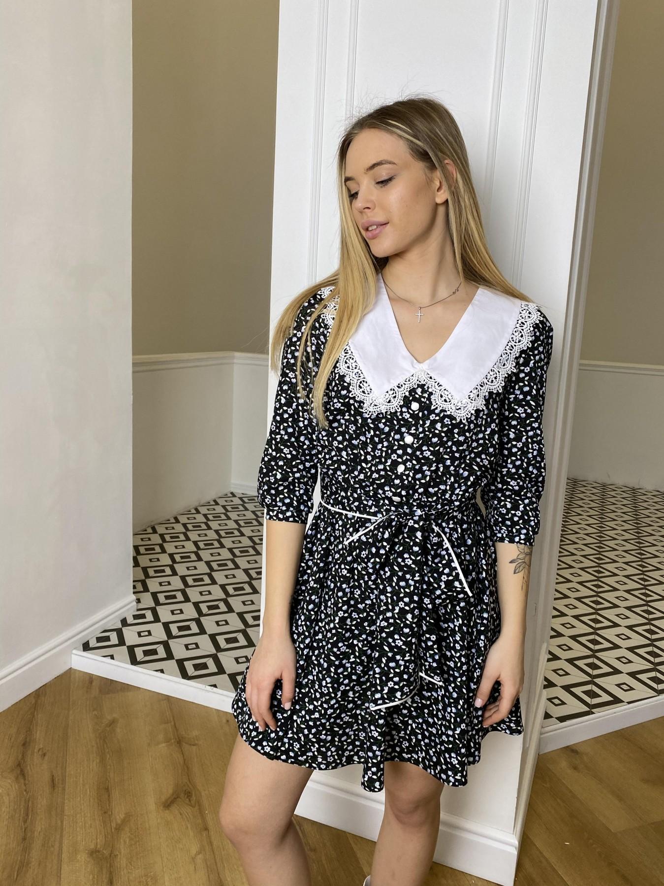 Платья от украинского производителя Джейн костюмка штапель принт платье 10881