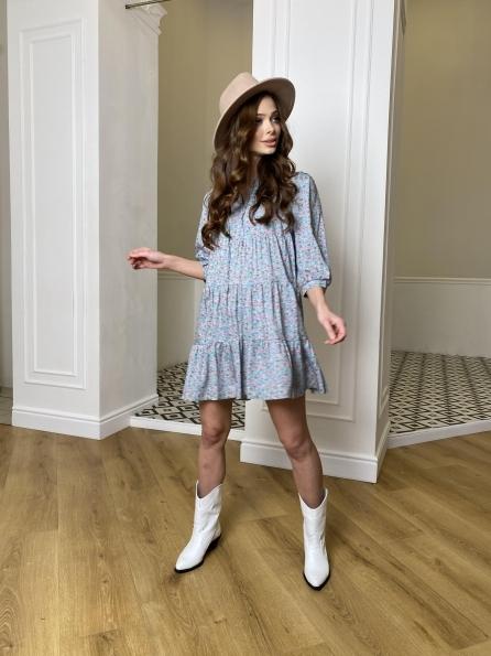 Купить Нинель штапель принт платье 10877 оптом и в розницу