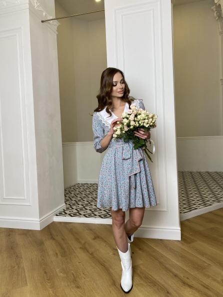 Купить Джейн костюмка штапель принт платье 10881 оптом и в розницу