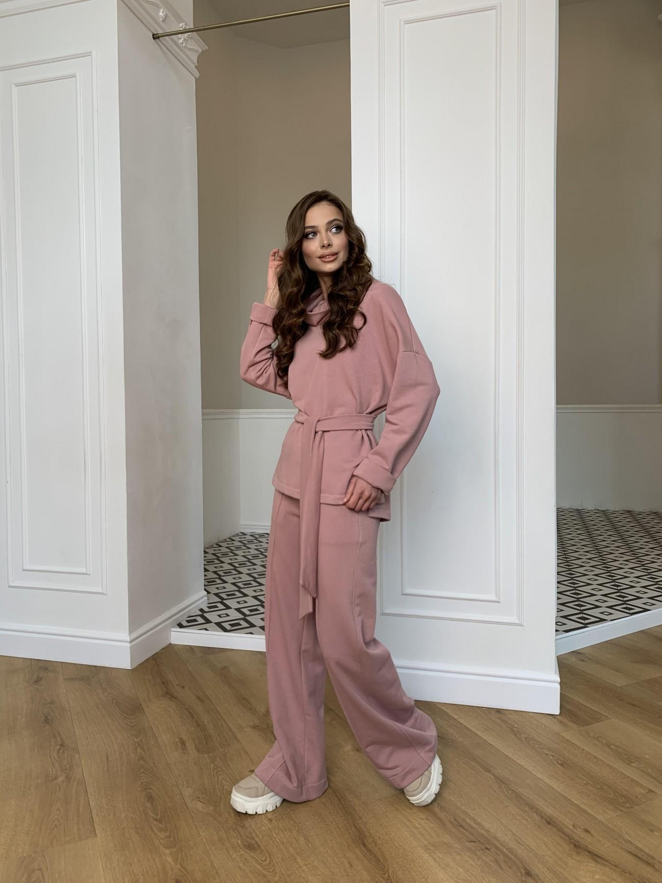 Джаст костюм Oversize  3х нитка 10564 АРТ. 47244 Цвет: Пудра - фото 7, интернет магазин tm-modus.ru