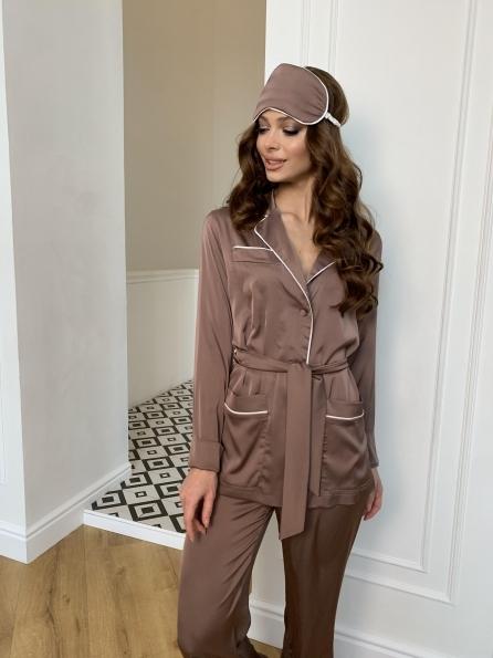 """Купить """"Шайн"""" костюм из шелка  10778 оптом и в розницу"""