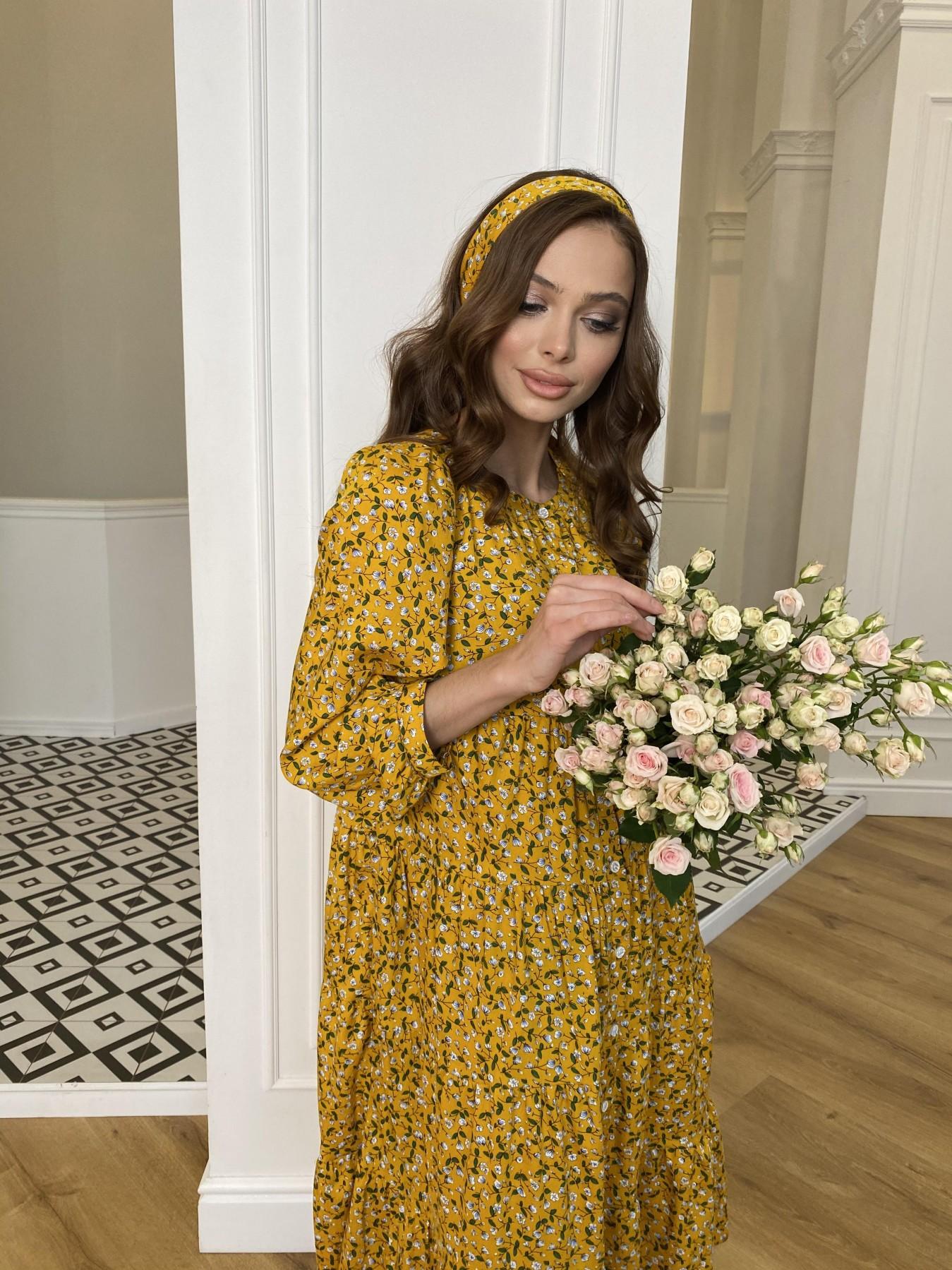 Берри штапель принт платье 10872