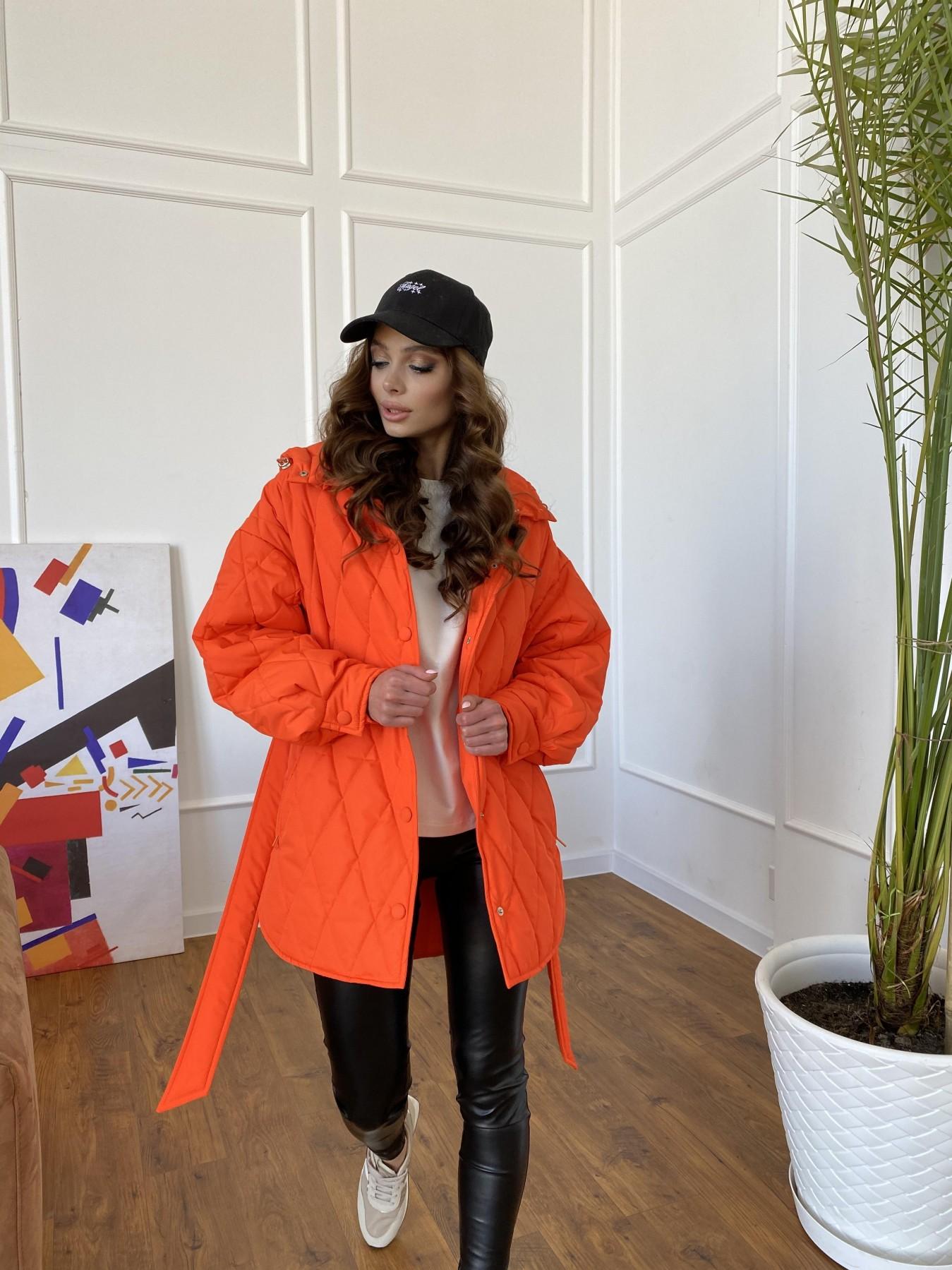 Пазл стеганая куртка из плащевки 10890 АРТ. 47448 Цвет: Оранжевый 788 - фото 1, интернет магазин tm-modus.ru