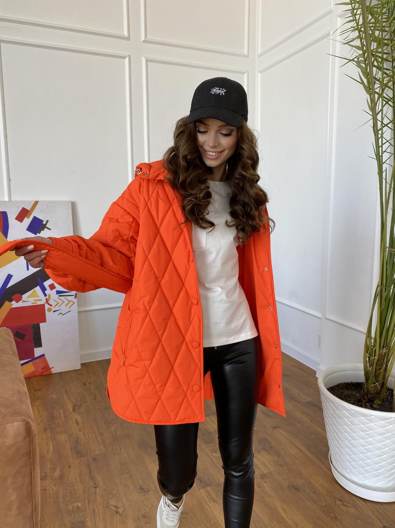 Пазл стеганая куртка из плащевки 10890 АРТ. 47448 Цвет: Оранжевый 788 - фото 2, интернет магазин tm-modus.ru