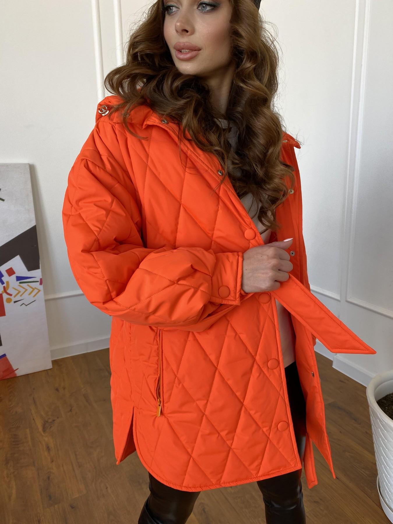 Пазл стеганая куртка из плащевки 10890 АРТ. 47448 Цвет: Оранжевый 788 - фото 4, интернет магазин tm-modus.ru