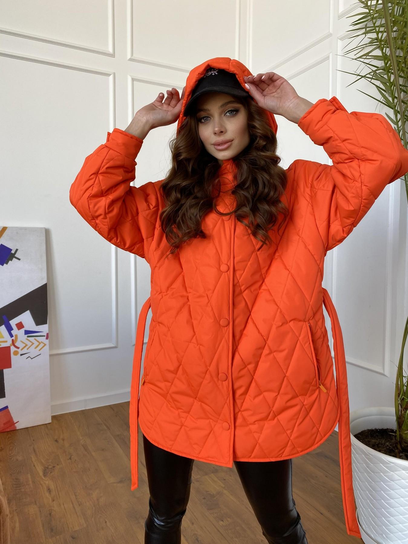 Пазл стеганая куртка из плащевки 10890 АРТ. 47448 Цвет: Оранжевый 788 - фото 5, интернет магазин tm-modus.ru