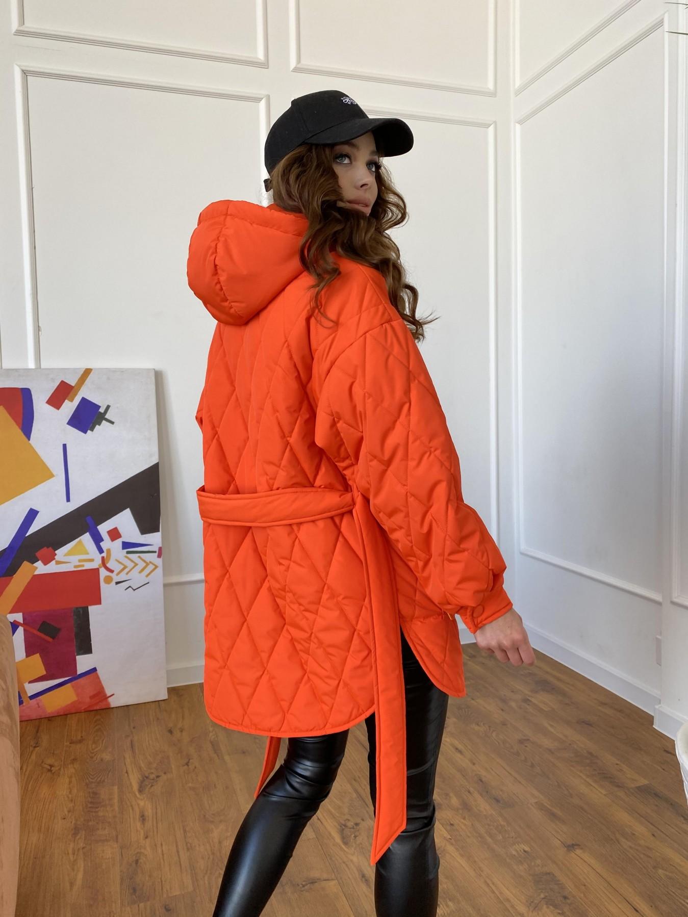 Пазл стеганая куртка из плащевки 10890 АРТ. 47448 Цвет: Оранжевый 788 - фото 7, интернет магазин tm-modus.ru