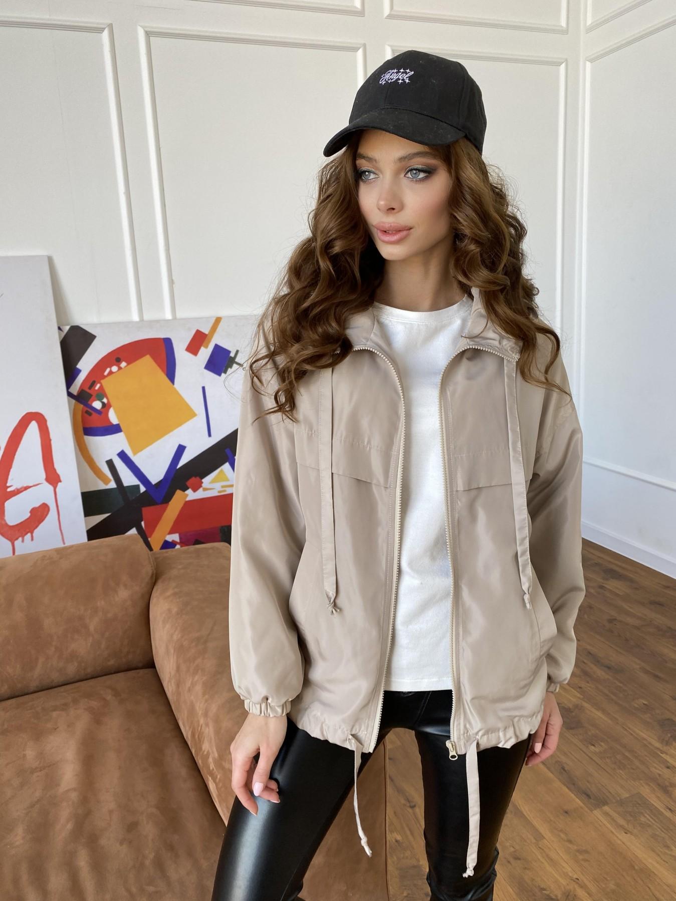 Фит куртка из плащевки Ammy 10971 АРТ. 47466 Цвет: Бежевый - фото 1, интернет магазин tm-modus.ru