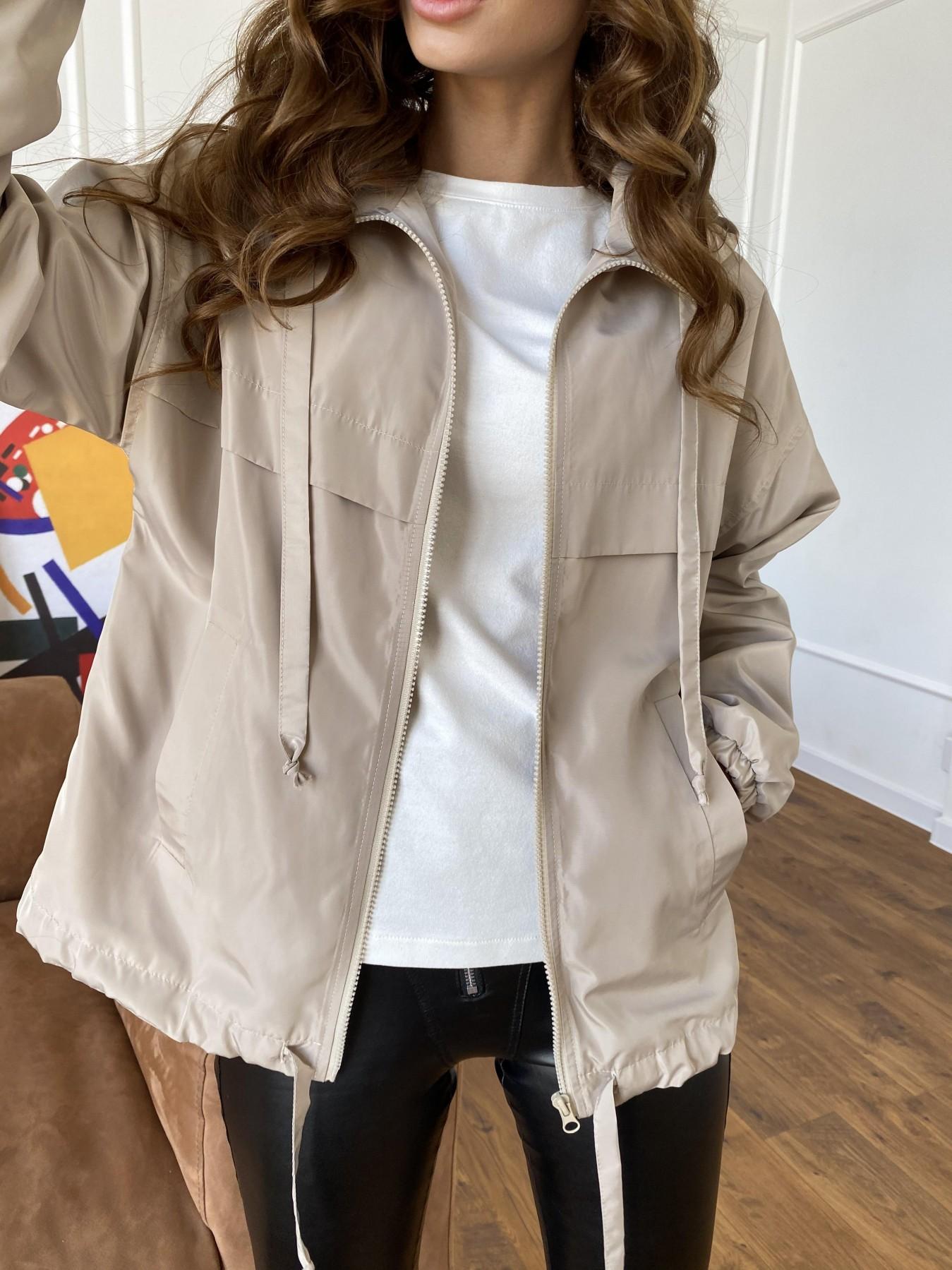 Фит куртка из плащевки Ammy 10971 АРТ. 47466 Цвет: Бежевый - фото 2, интернет магазин tm-modus.ru