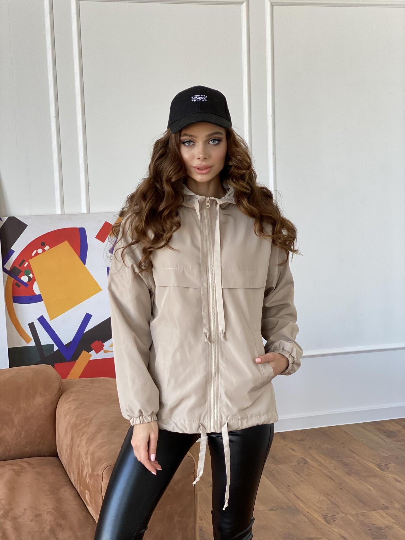 Фит куртка из плащевки Ammy 10971 АРТ. 47466 Цвет: Бежевый - фото 10, интернет магазин tm-modus.ru