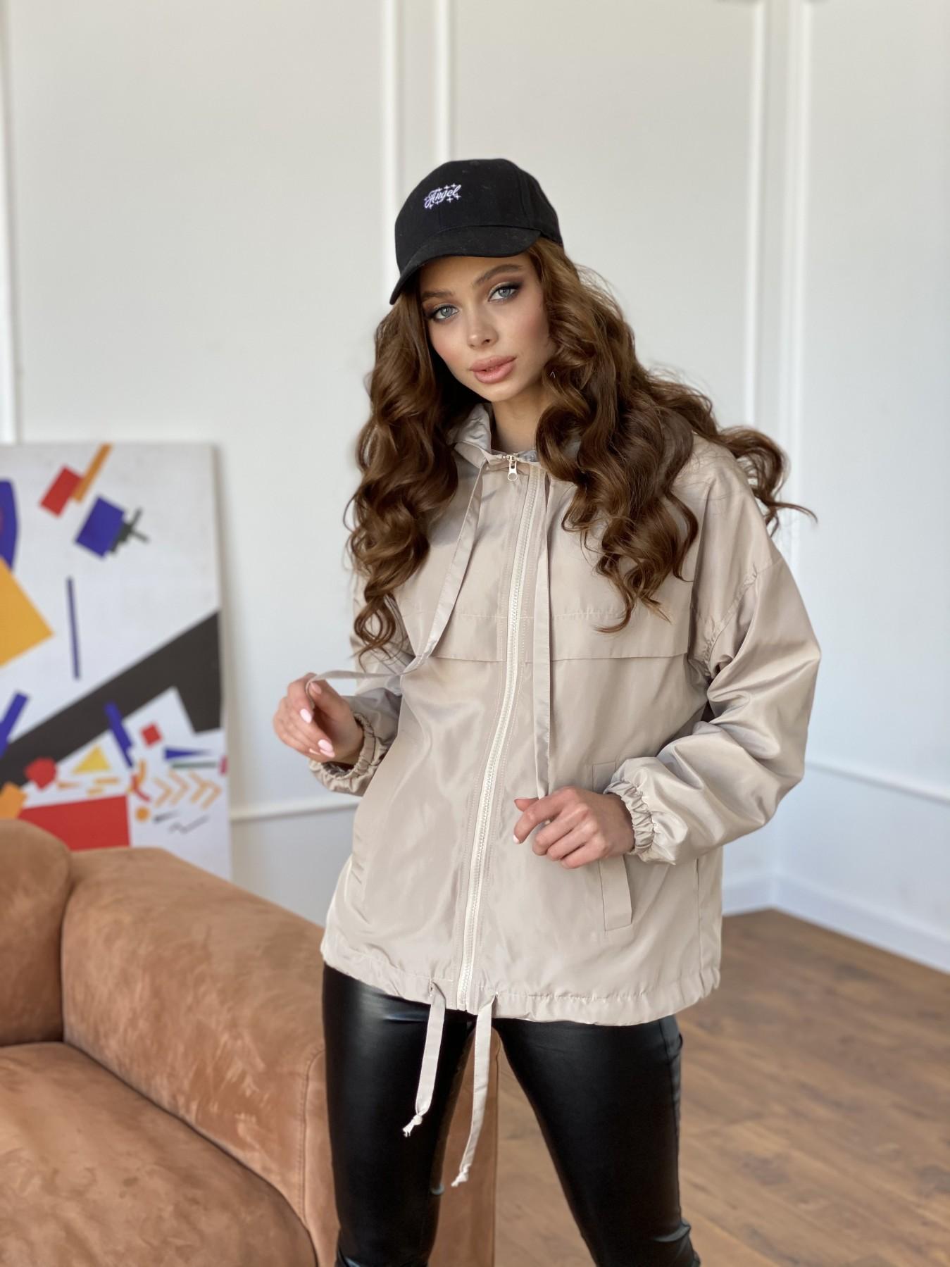 Фит куртка из плащевки Ammy 10971 АРТ. 47466 Цвет: Бежевый - фото 11, интернет магазин tm-modus.ru