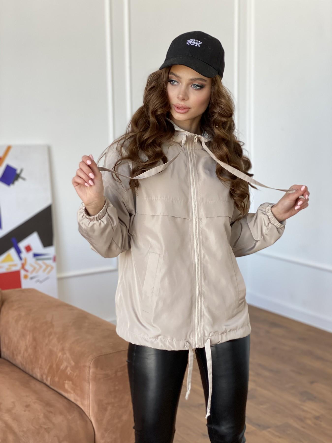 Фит куртка из плащевки Ammy 10971 АРТ. 47466 Цвет: Бежевый - фото 12, интернет магазин tm-modus.ru