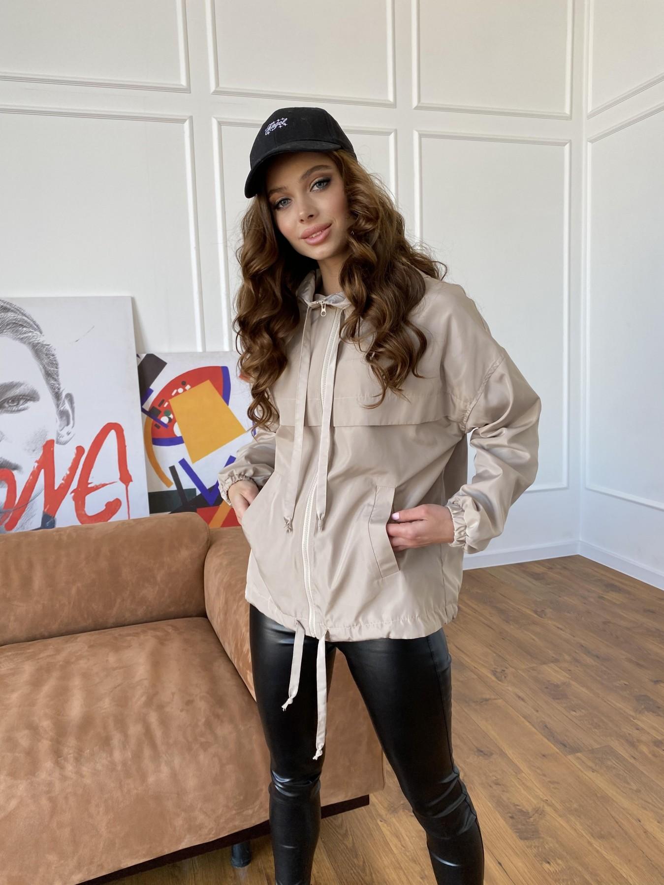 Фит куртка из плащевки Ammy 10971 АРТ. 47466 Цвет: Бежевый - фото 13, интернет магазин tm-modus.ru