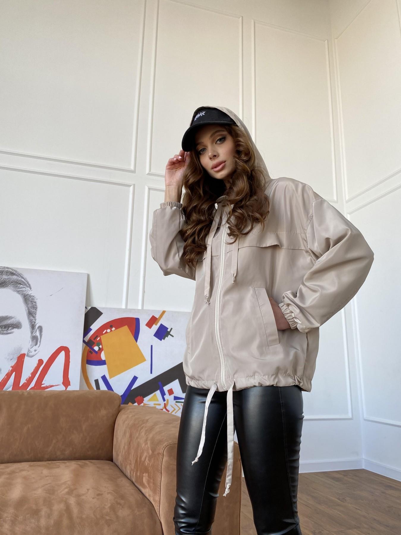 Фит куртка из плащевки Ammy 10971 АРТ. 47466 Цвет: Бежевый - фото 14, интернет магазин tm-modus.ru