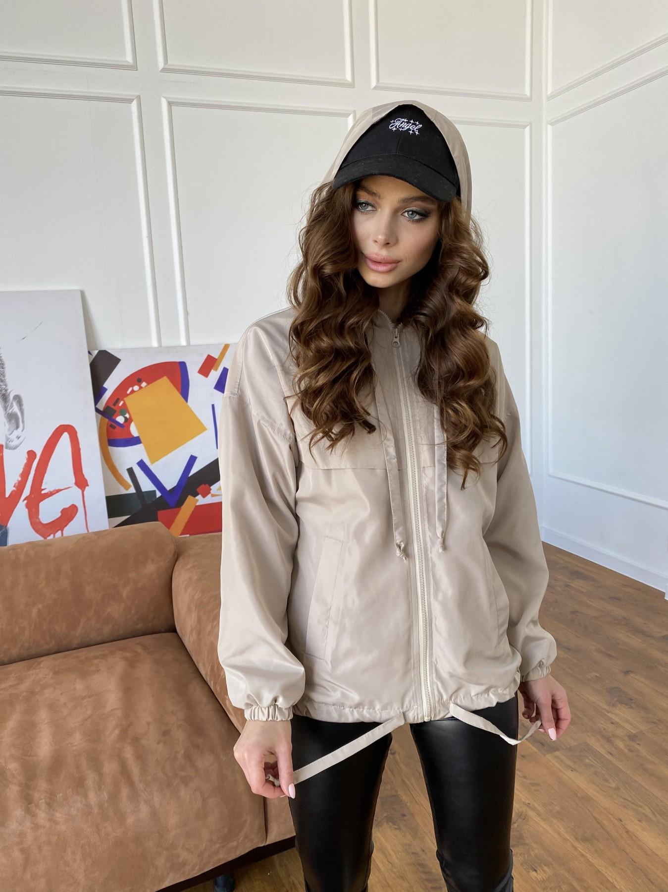 Фит куртка из плащевки Ammy 10971 АРТ. 47466 Цвет: Бежевый - фото 15, интернет магазин tm-modus.ru