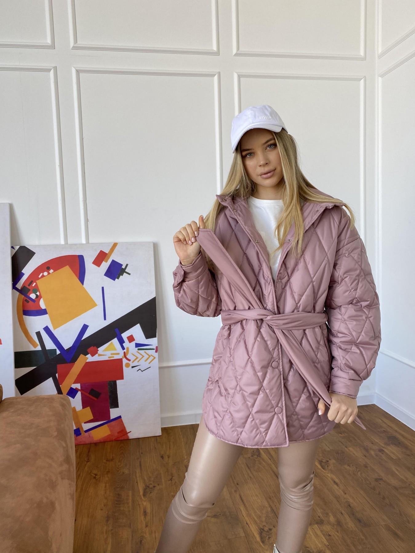 Пазл стеганая куртка из плащевки 10890 АРТ. 47400 Цвет: Пудра - фото 2, интернет магазин tm-modus.ru