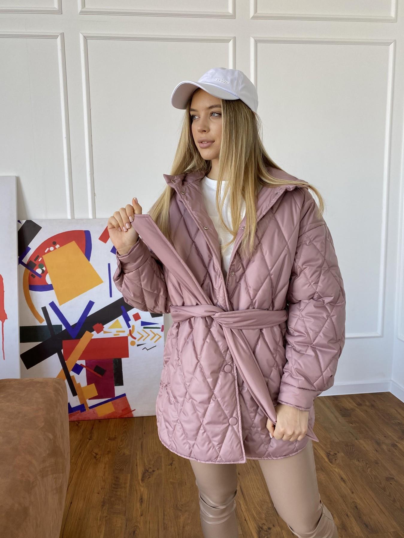 Пазл стеганая куртка из плащевки 10890 АРТ. 47400 Цвет: Пудра - фото 3, интернет магазин tm-modus.ru