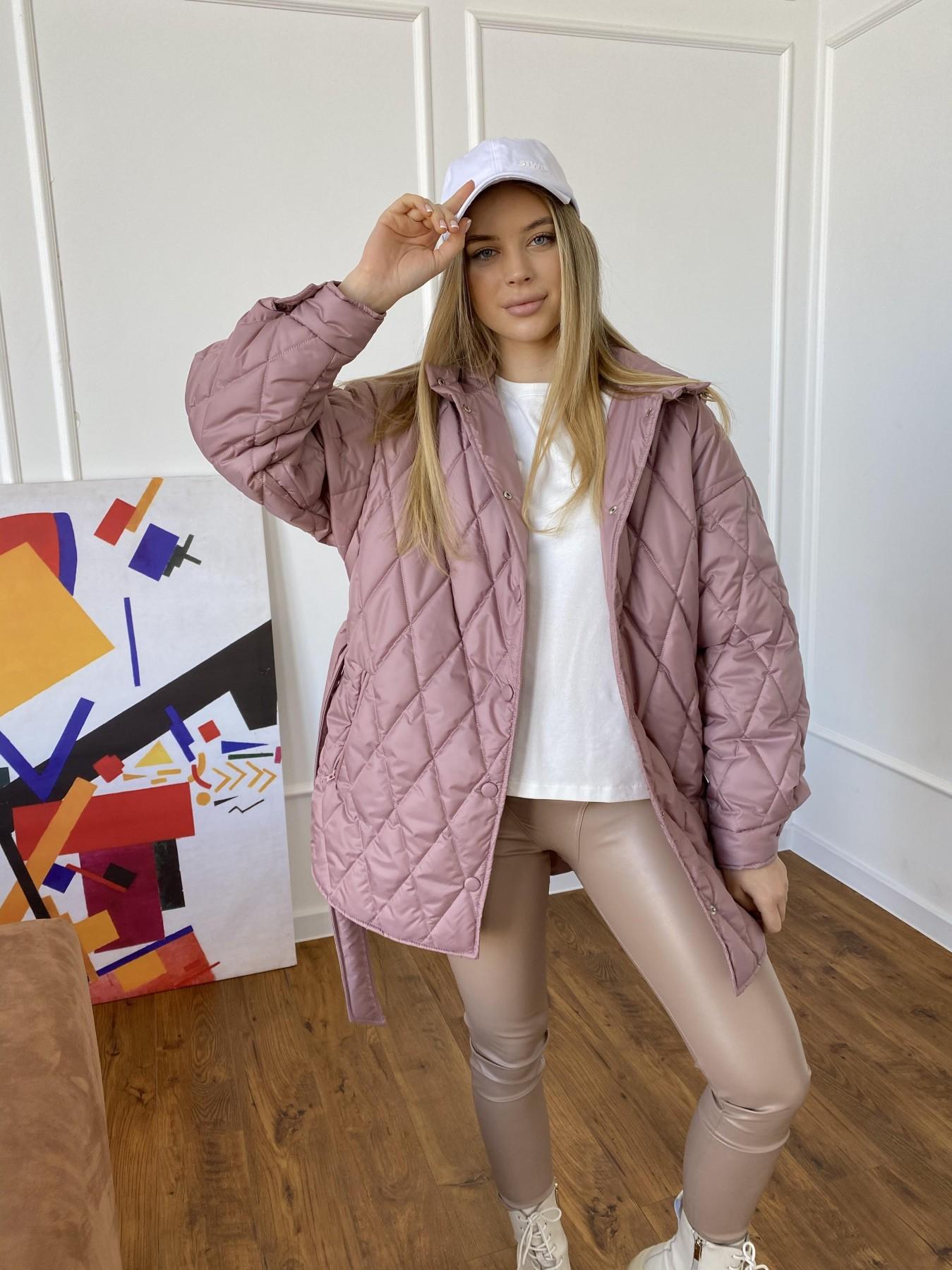Пазл стеганая куртка из плащевки 10890 АРТ. 47400 Цвет: Пудра - фото 5, интернет магазин tm-modus.ru