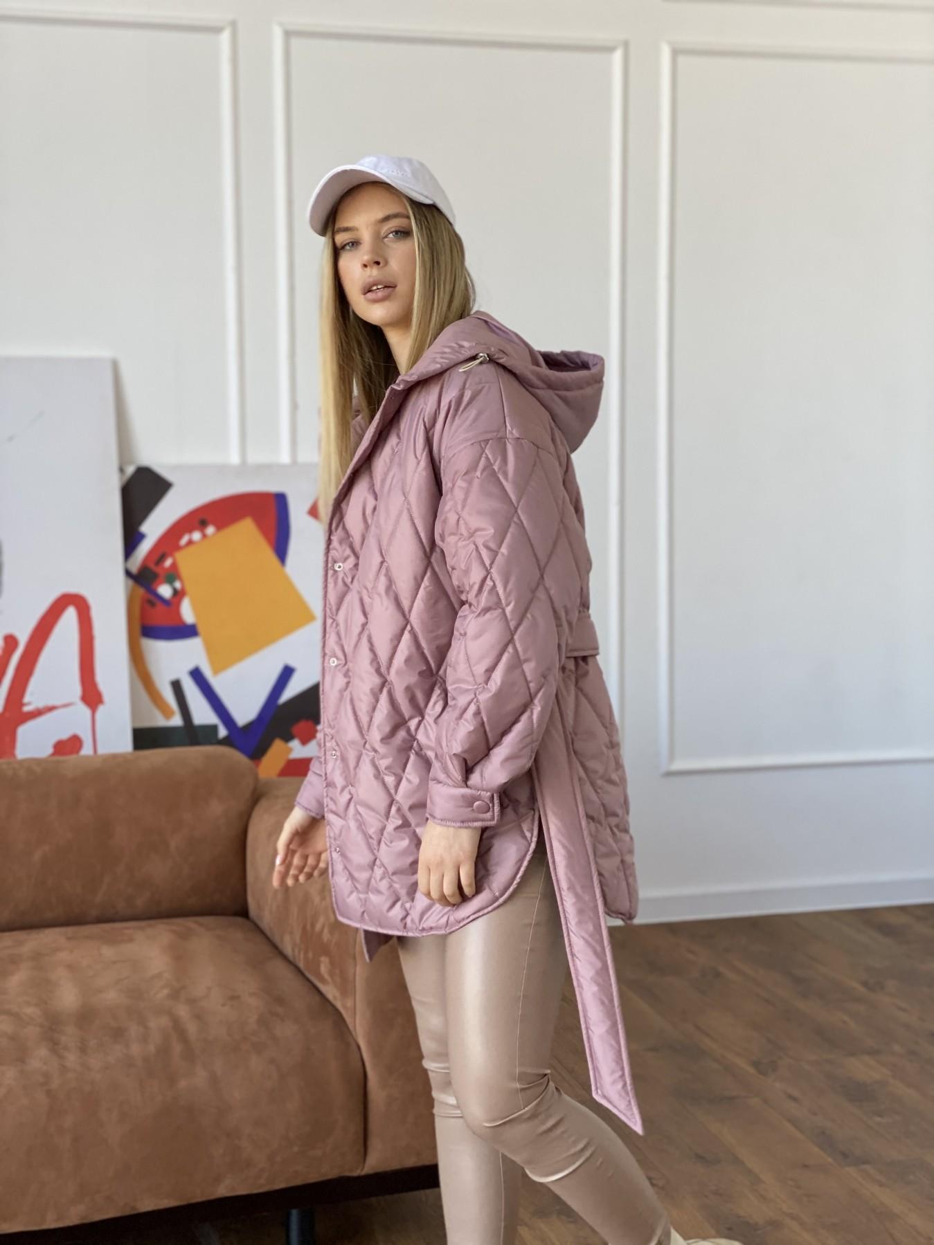 Пазл стеганая куртка из плащевки 10890 АРТ. 47400 Цвет: Пудра - фото 7, интернет магазин tm-modus.ru