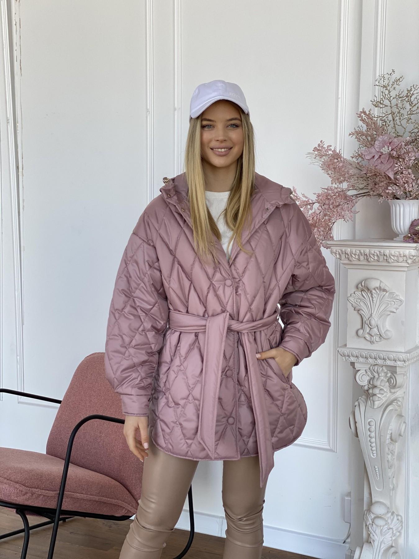Пазл стеганая куртка из плащевки 10890 АРТ. 47400 Цвет: Пудра - фото 8, интернет магазин tm-modus.ru