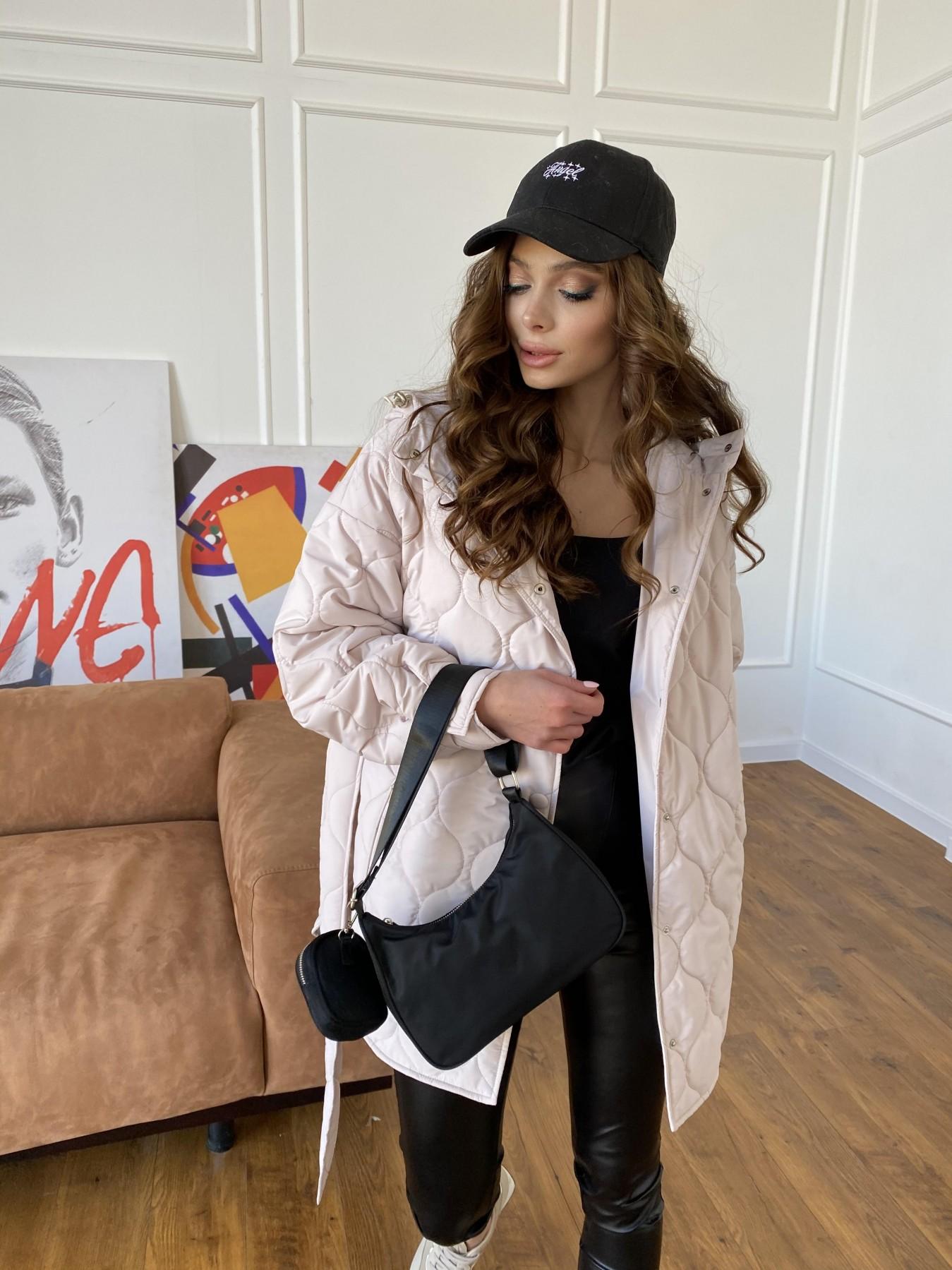 Пазл ЗИГЗАГ  стеганая куртка из плащевой ткани Ammy 10979 АРТ. 47471 Цвет: Бежевый 970 - фото 5, интернет магазин tm-modus.ru