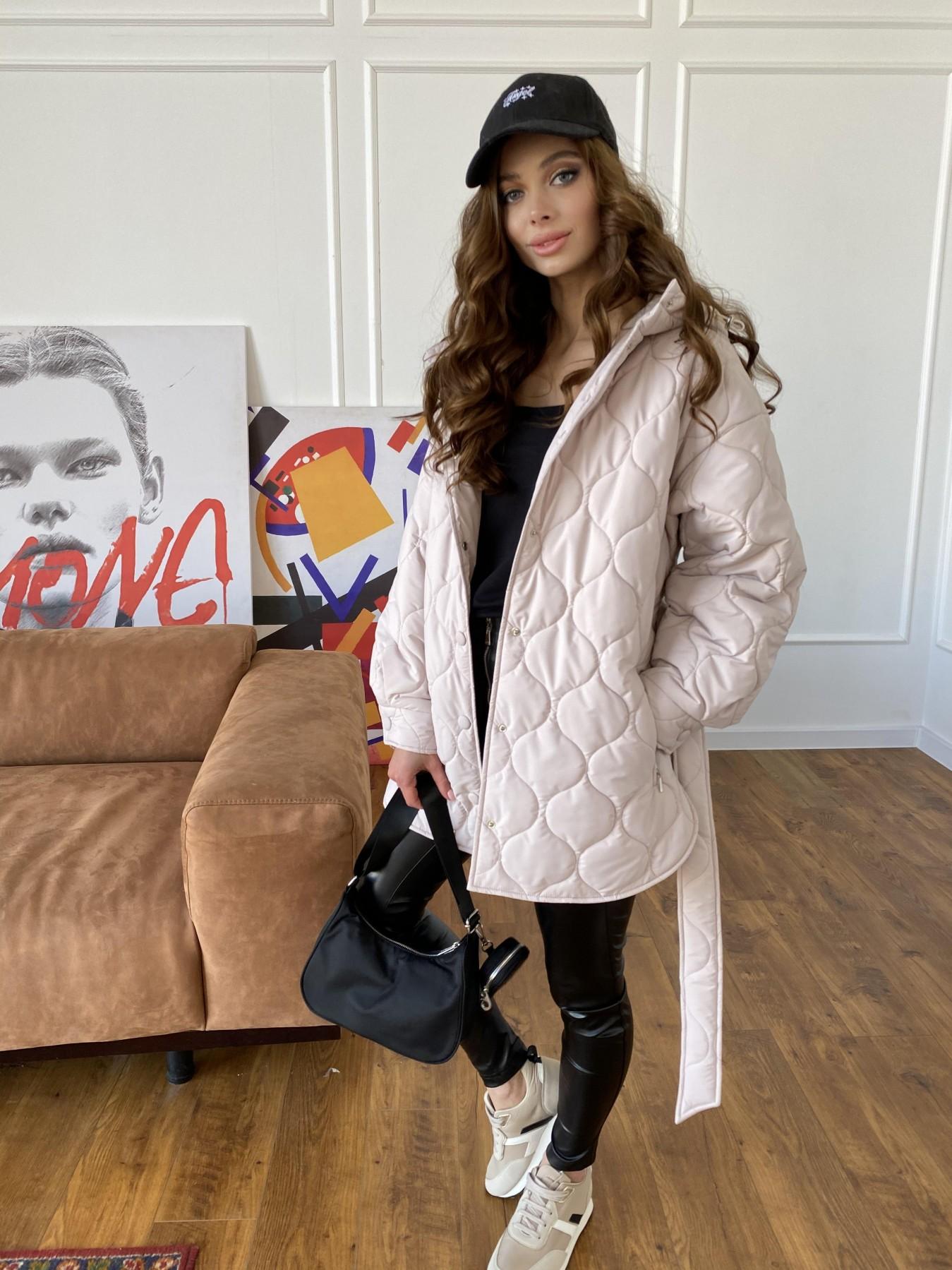 Пазл ЗИГЗАГ  стеганая куртка из плащевой ткани Ammy 10979 АРТ. 47471 Цвет: Бежевый 970 - фото 2, интернет магазин tm-modus.ru