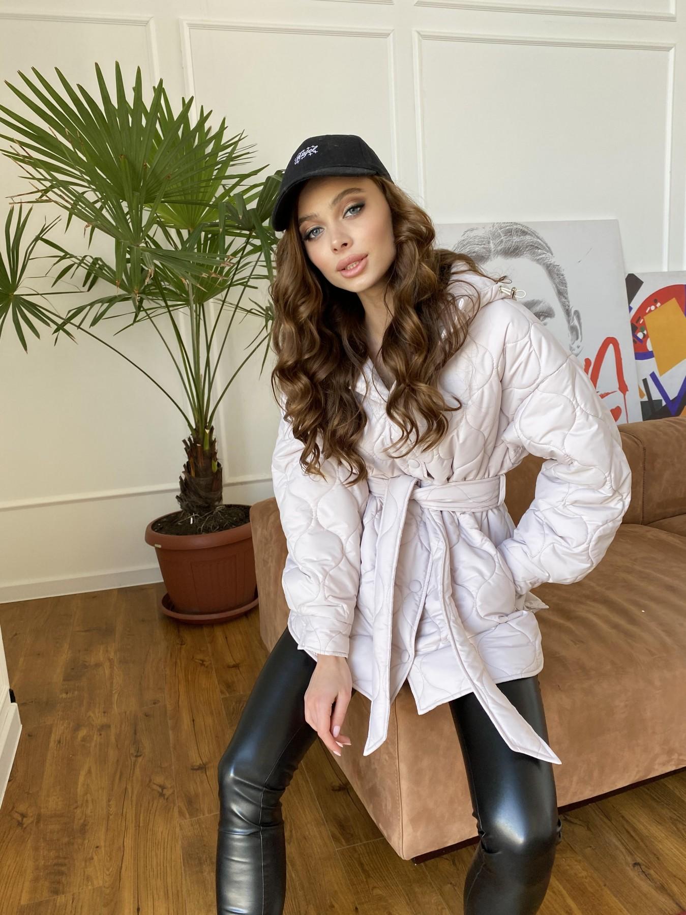 Пазл ЗИГЗАГ  стеганая куртка из плащевой ткани Ammy 10979 АРТ. 47471 Цвет: Бежевый 970 - фото 8, интернет магазин tm-modus.ru