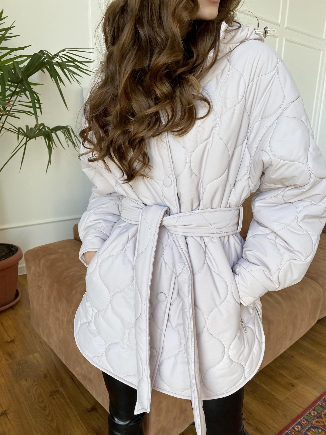 Пазл ЗИГЗАГ  стеганая куртка из плащевой ткани Ammy 10979 АРТ. 47471 Цвет: Бежевый 970 - фото 10, интернет магазин tm-modus.ru