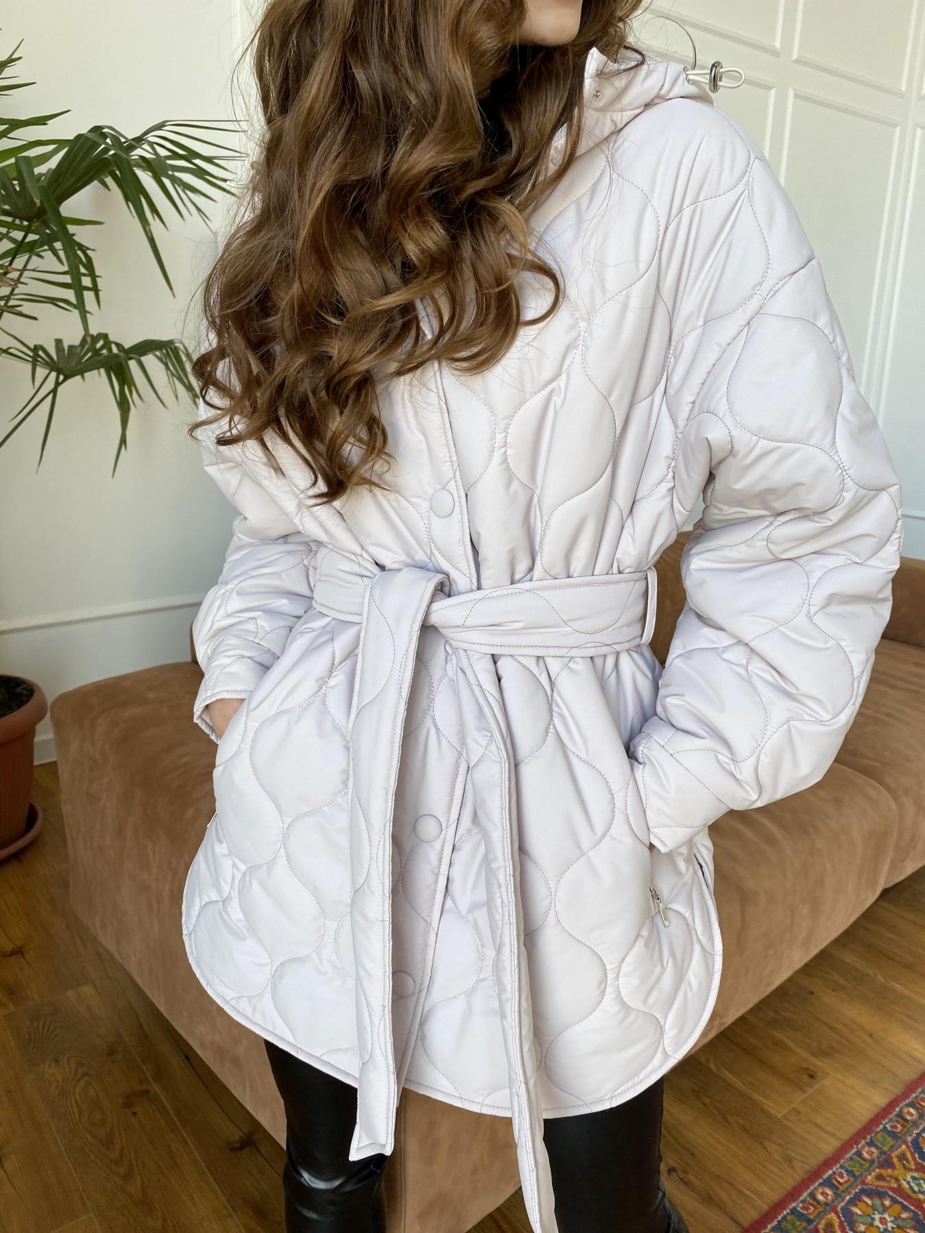 Пазл ЗИГЗАГ  стеганая куртка из плащевой ткани Ammy 10979 АРТ. 47471 Цвет: Бежевый 970 - фото 11, интернет магазин tm-modus.ru
