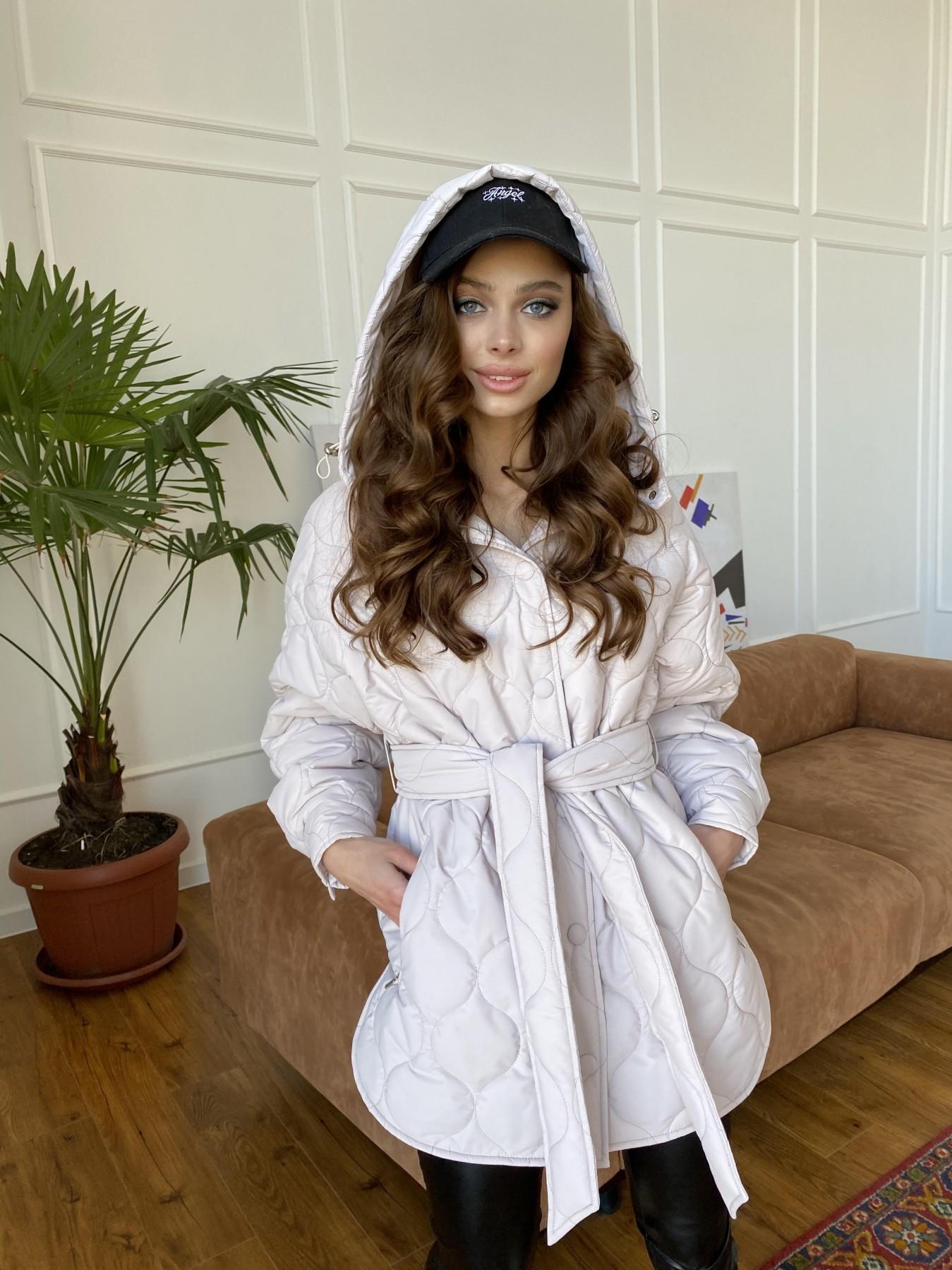 Пазл ЗИГЗАГ  стеганая куртка из плащевой ткани Ammy 10979 АРТ. 47471 Цвет: Бежевый 970 - фото 13, интернет магазин tm-modus.ru