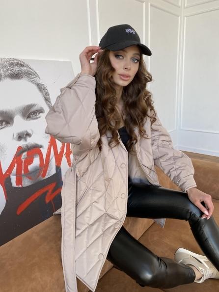 """Купить """"Пазл"""" стеганая куртка из плащевой ткани Канада 10936   оптом и в розницу"""