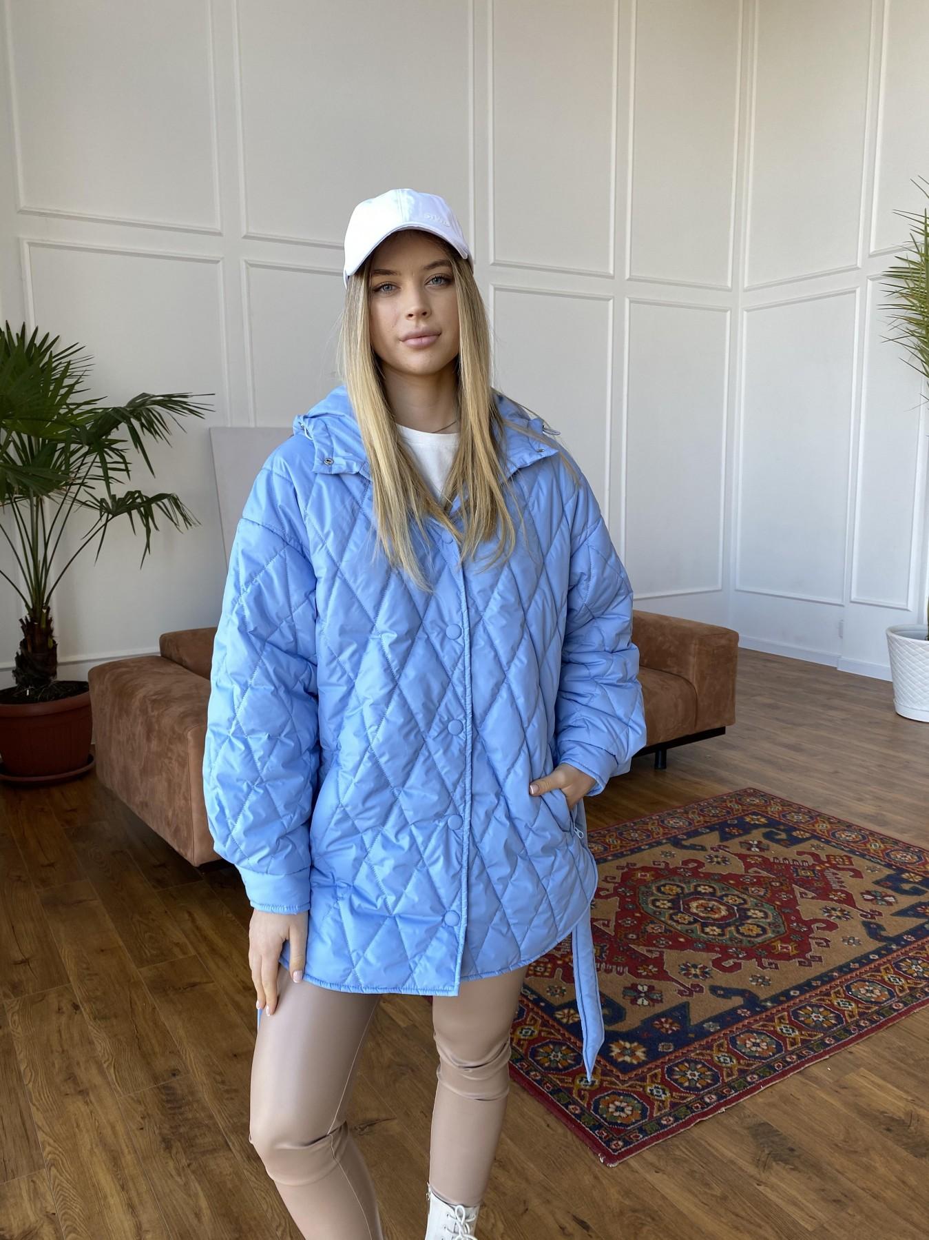 Пазл стеганая куртка из плащевки 10890 АРТ. 47424 Цвет: Голубой - фото 1, интернет магазин tm-modus.ru