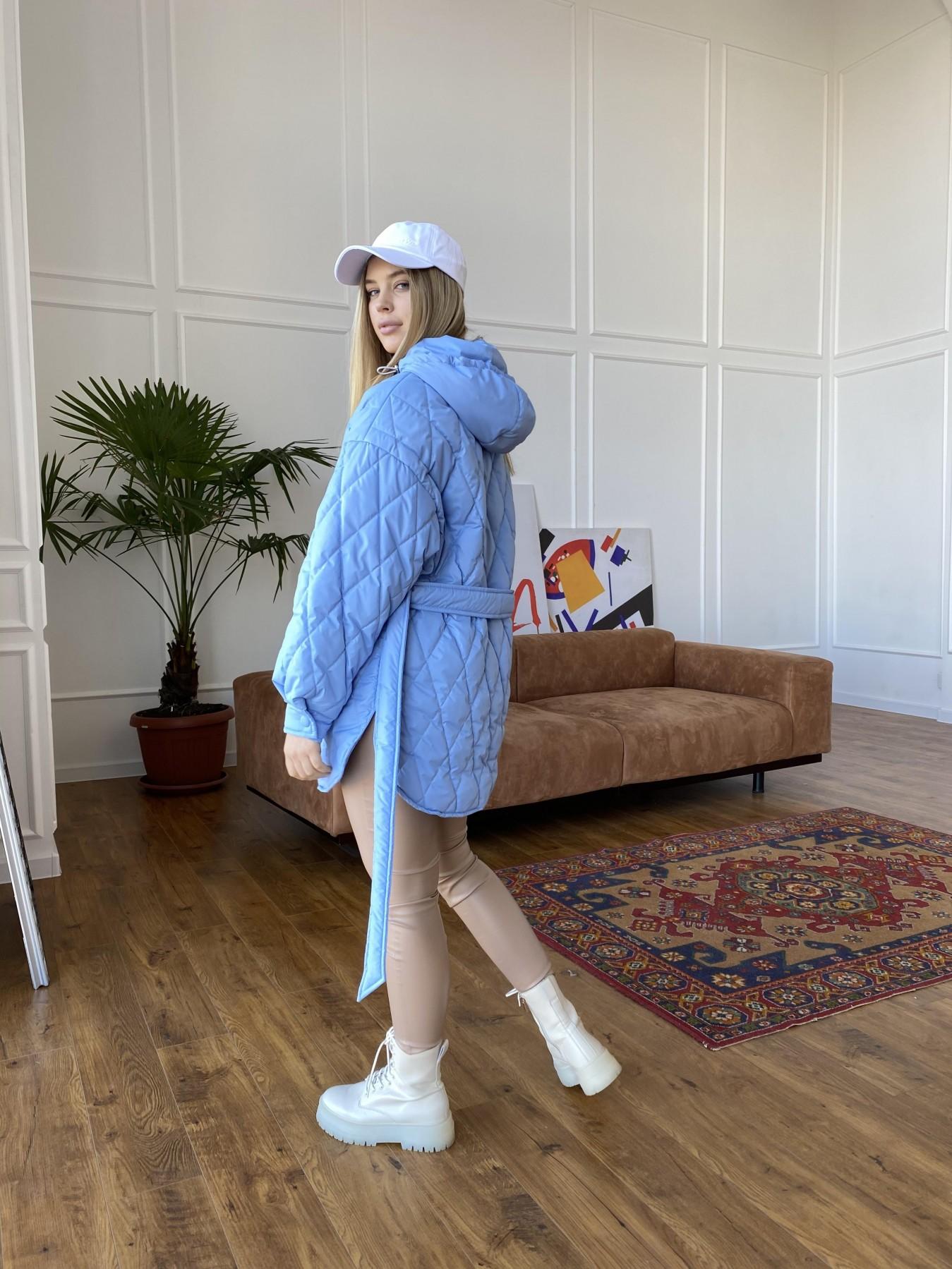 Пазл стеганая куртка из плащевки 10890 АРТ. 47424 Цвет: Голубой - фото 5, интернет магазин tm-modus.ru