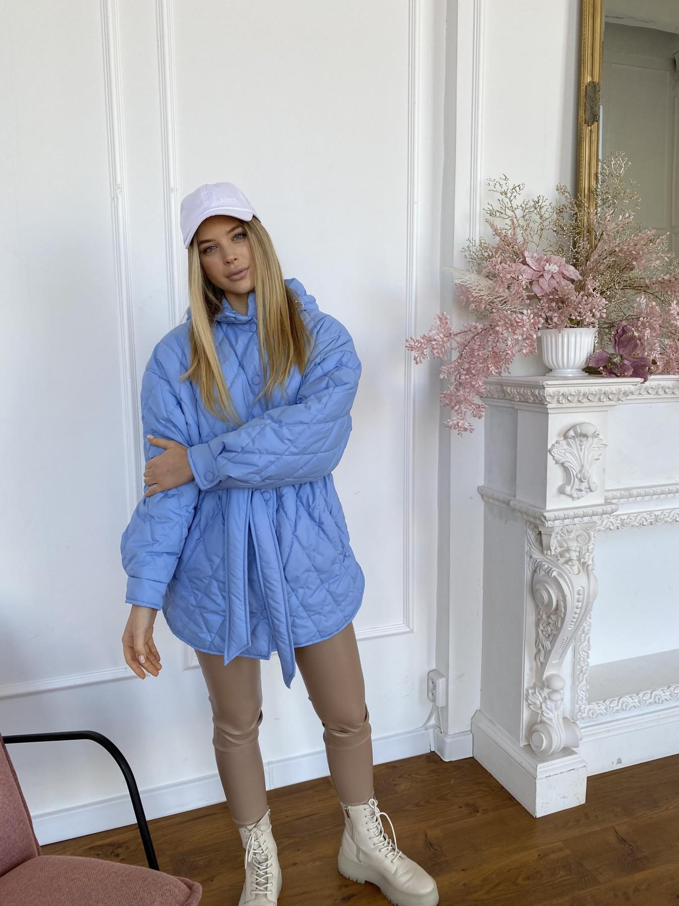 Пазл стеганая куртка из плащевки 10890 АРТ. 47424 Цвет: Голубой - фото 8, интернет магазин tm-modus.ru