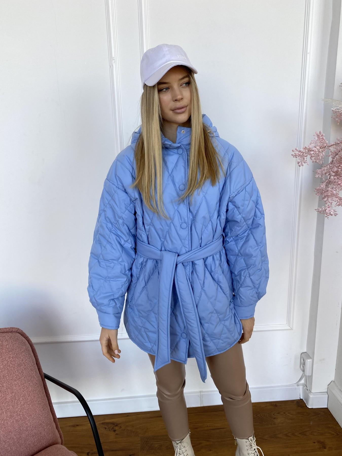 Пазл стеганая куртка из плащевки 10890 АРТ. 47424 Цвет: Голубой - фото 9, интернет магазин tm-modus.ru