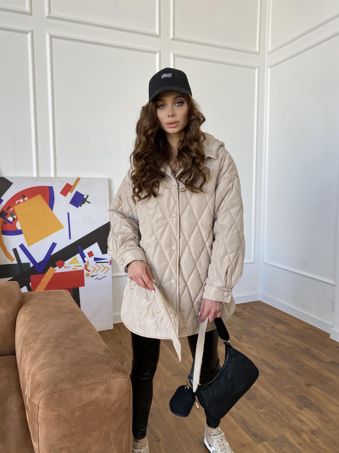 Пазл стеганая куртка из плащевки 10890 АРТ. 47449 Цвет: Бежевый - фото 8, интернет магазин tm-modus.ru