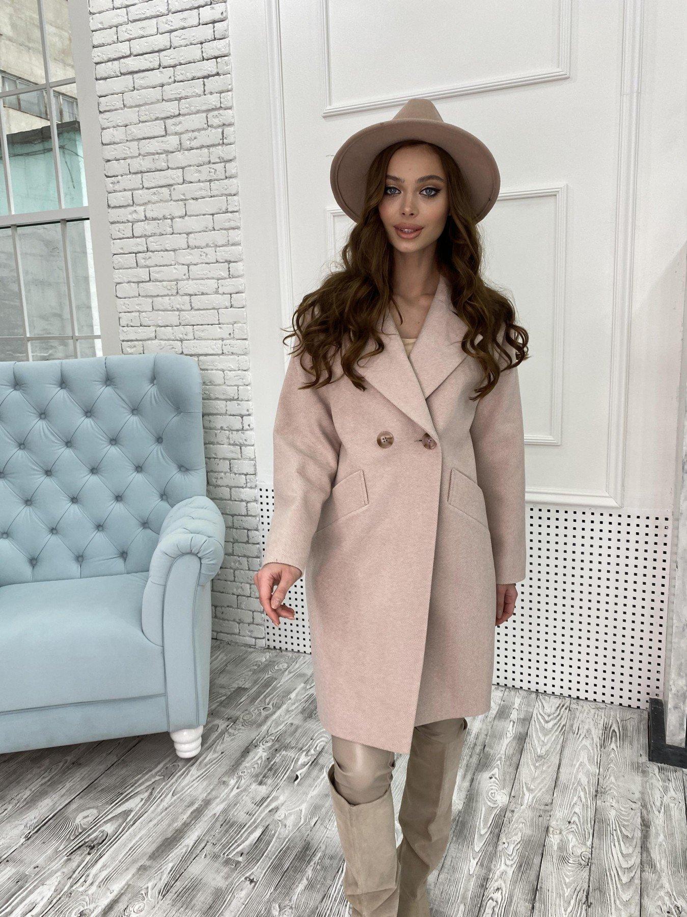 Сенсей Елка пальтовая ткань пальто 10791 АРТ. 47273 Цвет: Пудра - фото 4, интернет магазин tm-modus.ru