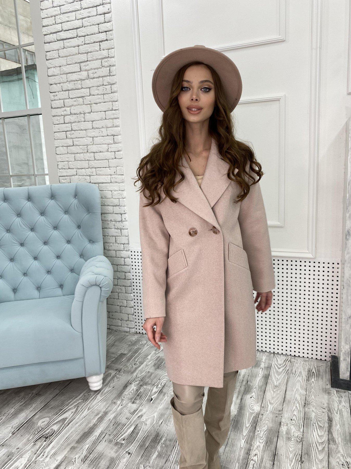 Сенсей Елка пальтовая ткань пальто 10791 АРТ. 47273 Цвет: Пудра - фото 5, интернет магазин tm-modus.ru