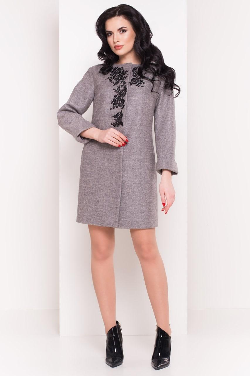 Пальто Авелони 4555 Цвет: Серый 18