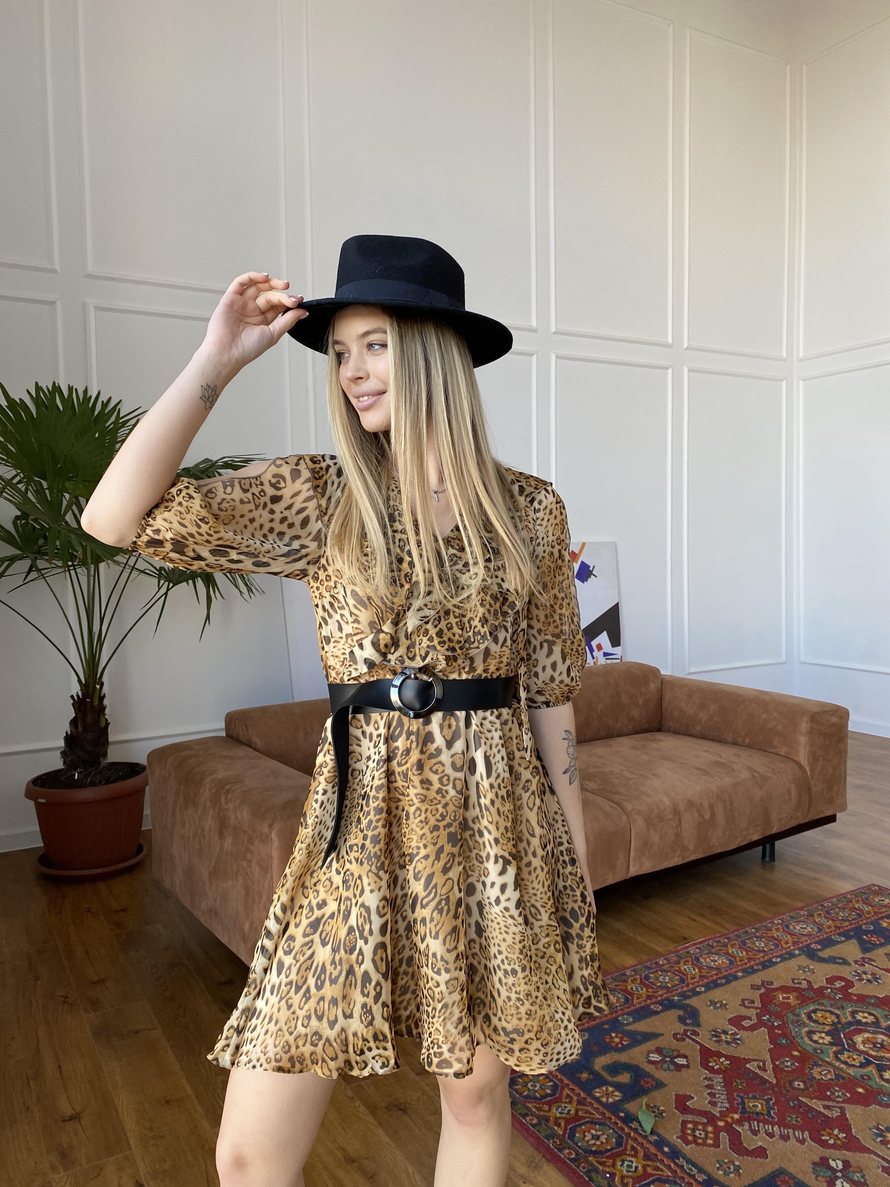 Блюз платье в леопардовый принт 7093 АРТ. 42551 Цвет: Леопард 2 - фото 4, интернет магазин tm-modus.ru