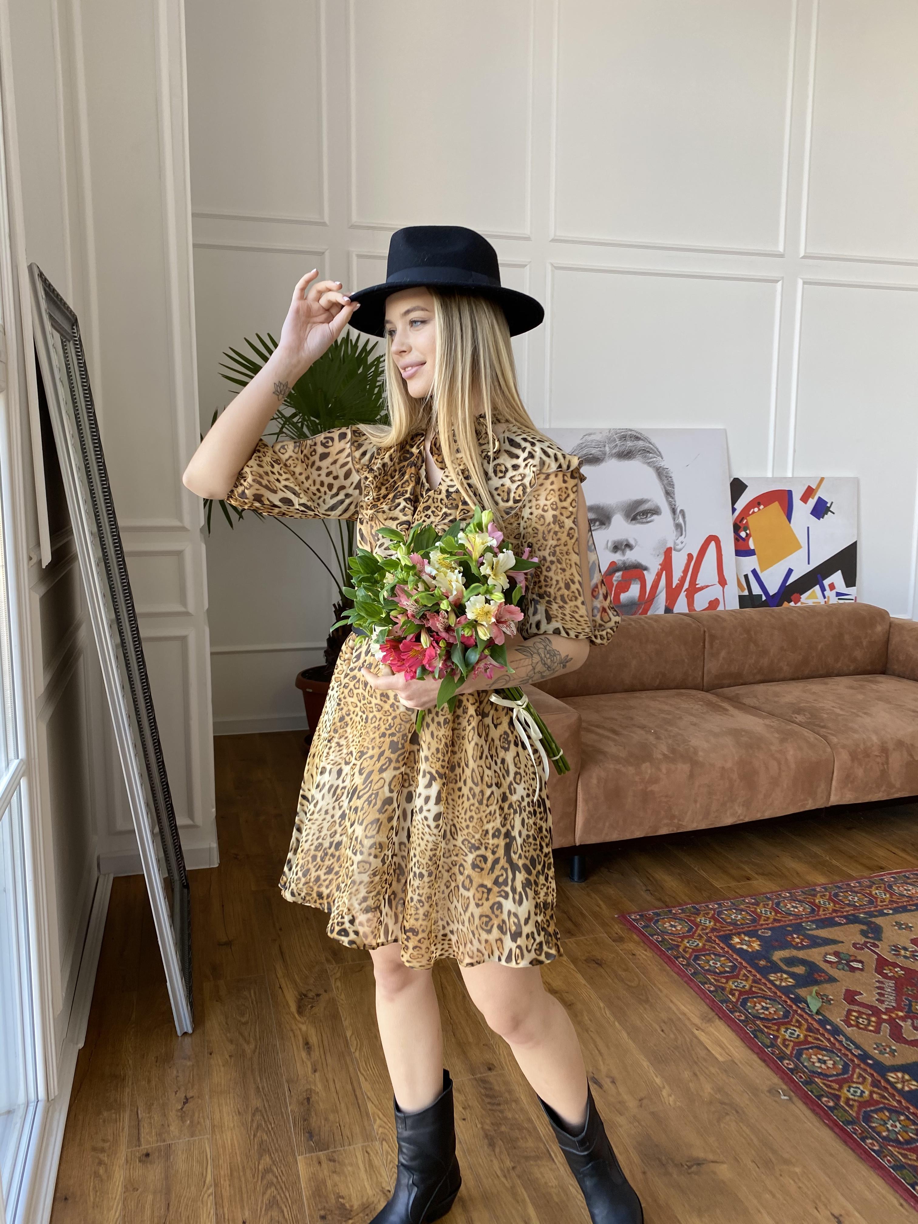 Блюз платье в леопардовый принт 7093 АРТ. 42551 Цвет: Леопард 2 - фото 6, интернет магазин tm-modus.ru