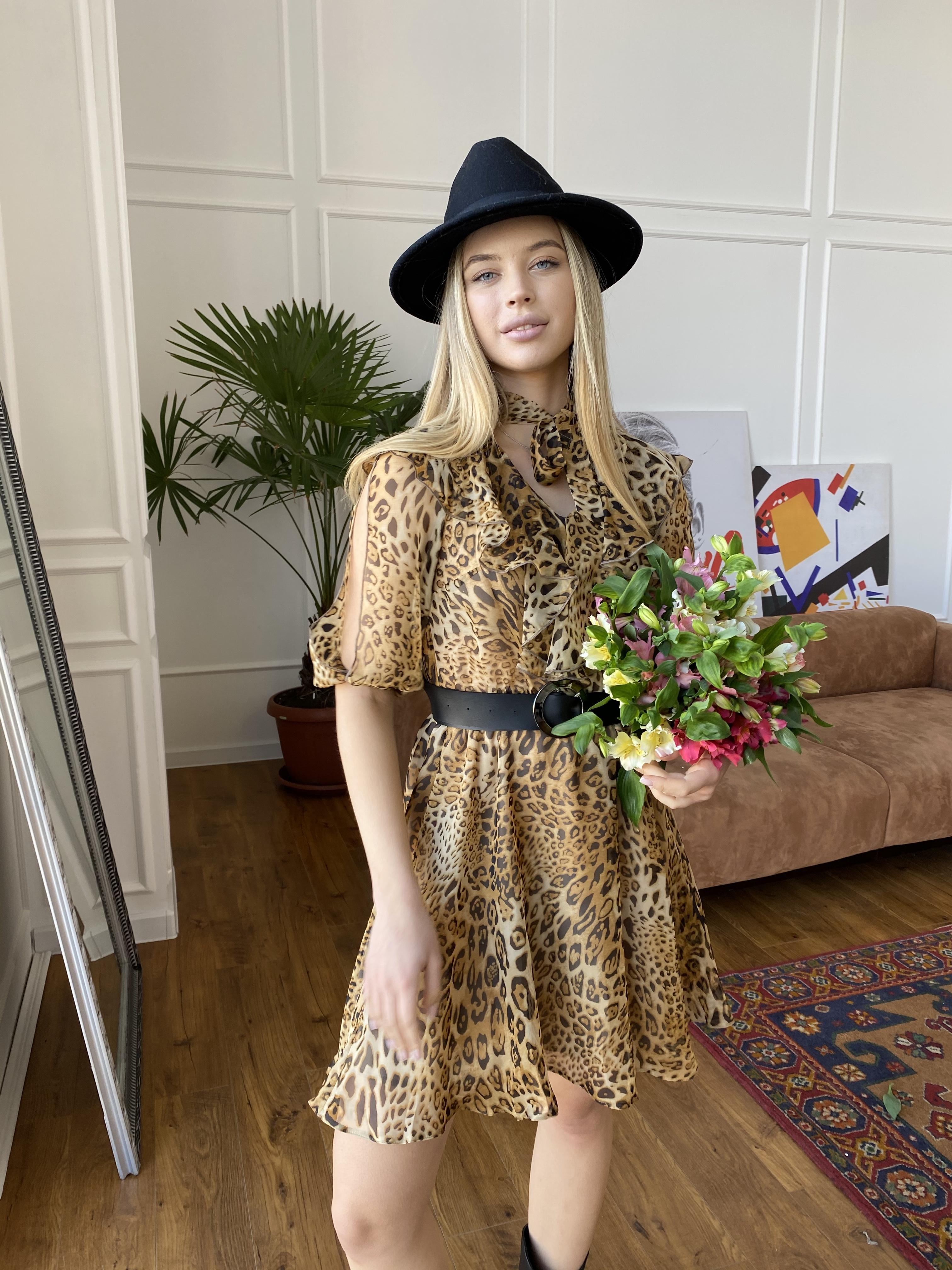 Блюз платье в леопардовый принт 7093 АРТ. 42551 Цвет: Леопард 2 - фото 7, интернет магазин tm-modus.ru