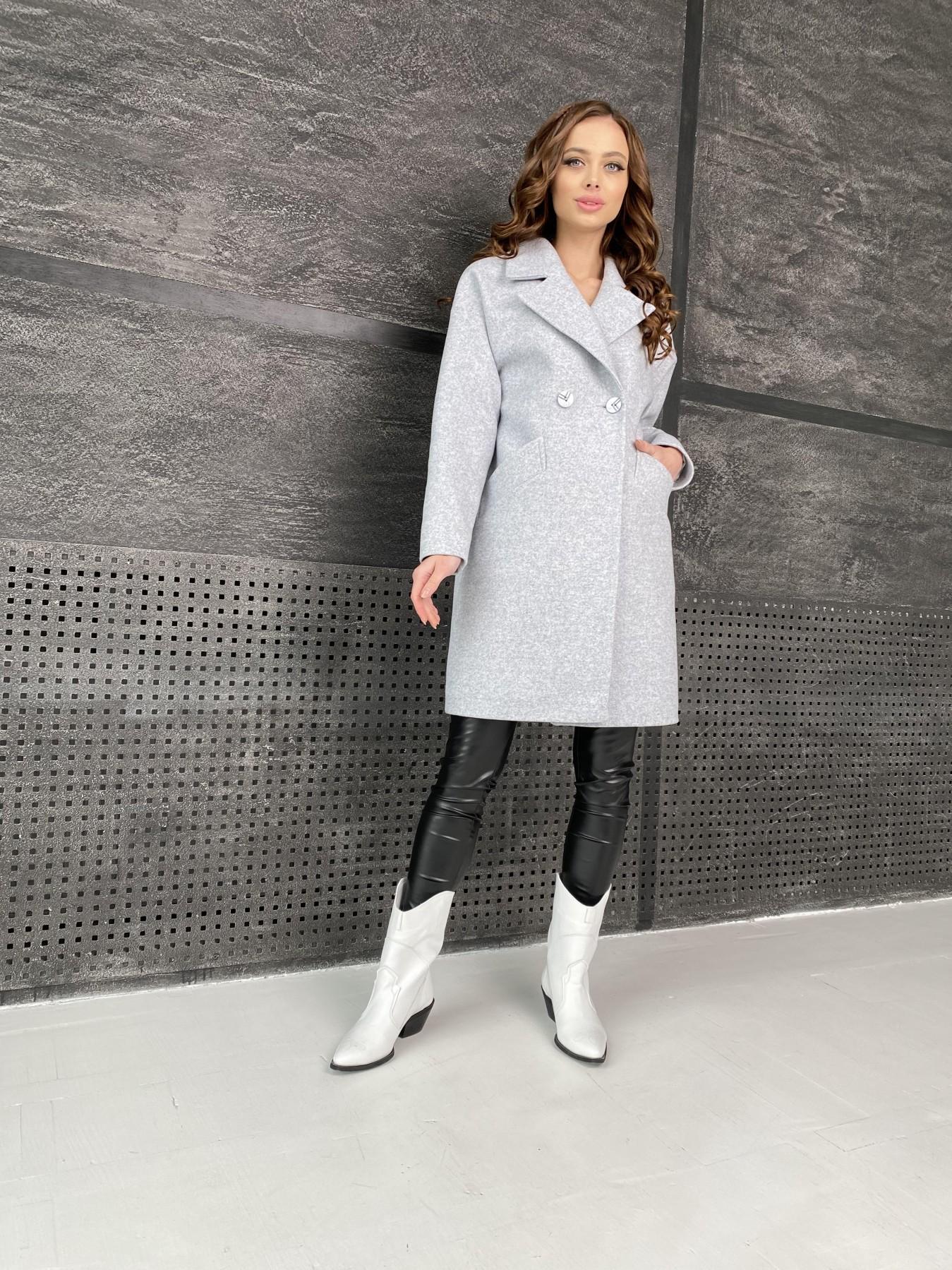 Сенсей пальто из кашемира меланж  10745 АРТ. 47223 Цвет: Серый Светлый 33 - фото 1, интернет магазин tm-modus.ru