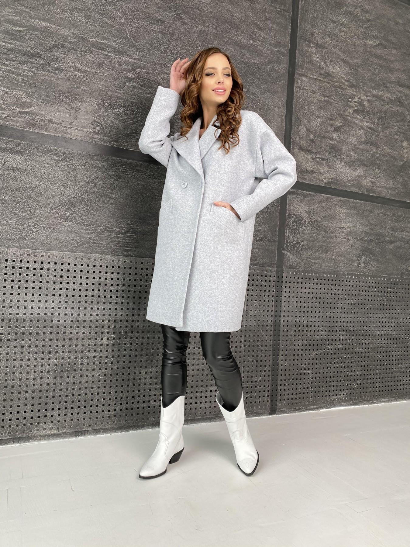 Сенсей пальто из кашемира меланж  10745 АРТ. 47223 Цвет: Серый Светлый 33 - фото 2, интернет магазин tm-modus.ru