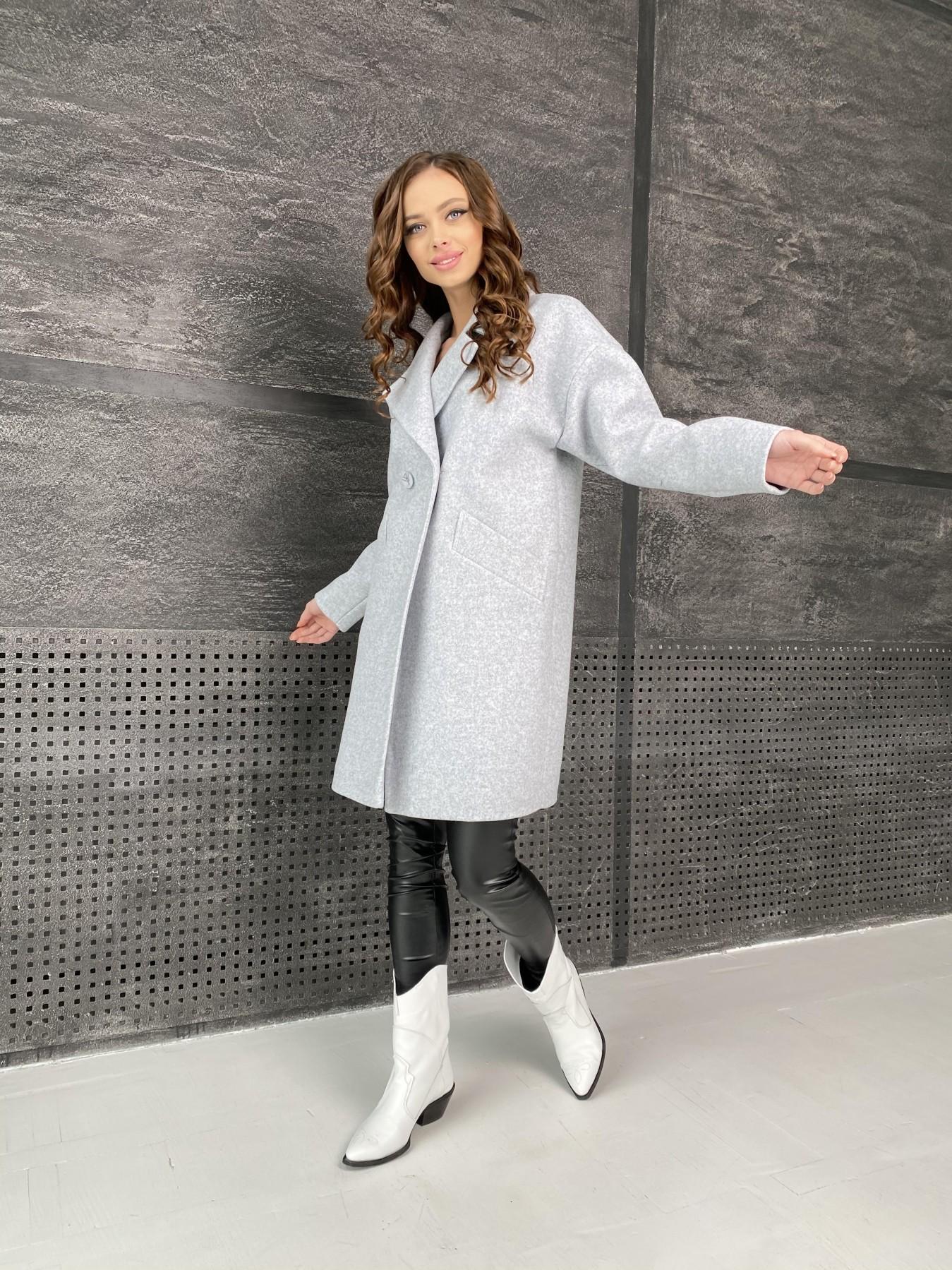 Сенсей пальто из кашемира меланж  10745 АРТ. 47223 Цвет: Серый Светлый 33 - фото 3, интернет магазин tm-modus.ru