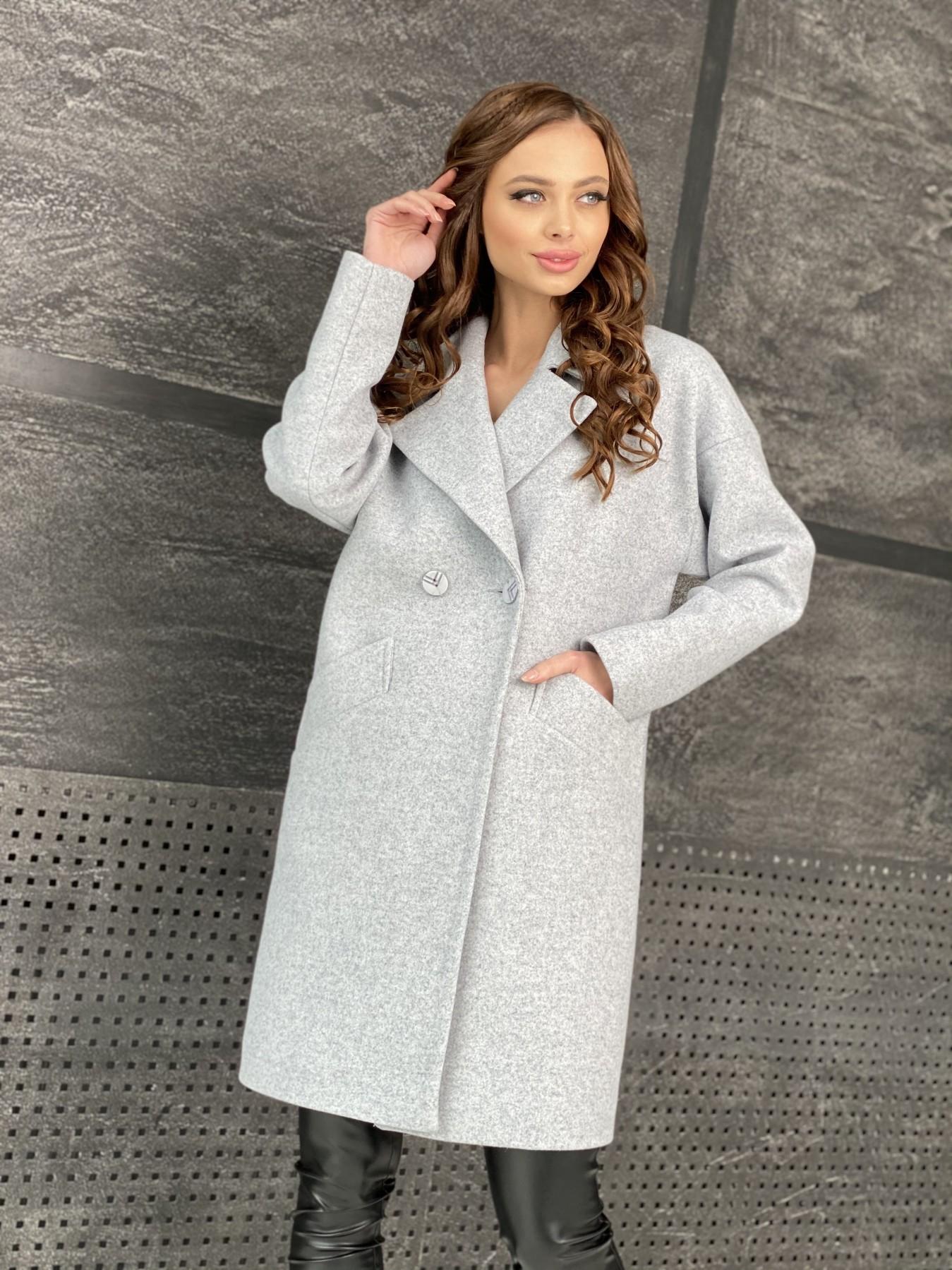 Сенсей пальто из кашемира меланж  10745 АРТ. 47223 Цвет: Серый Светлый 33 - фото 4, интернет магазин tm-modus.ru