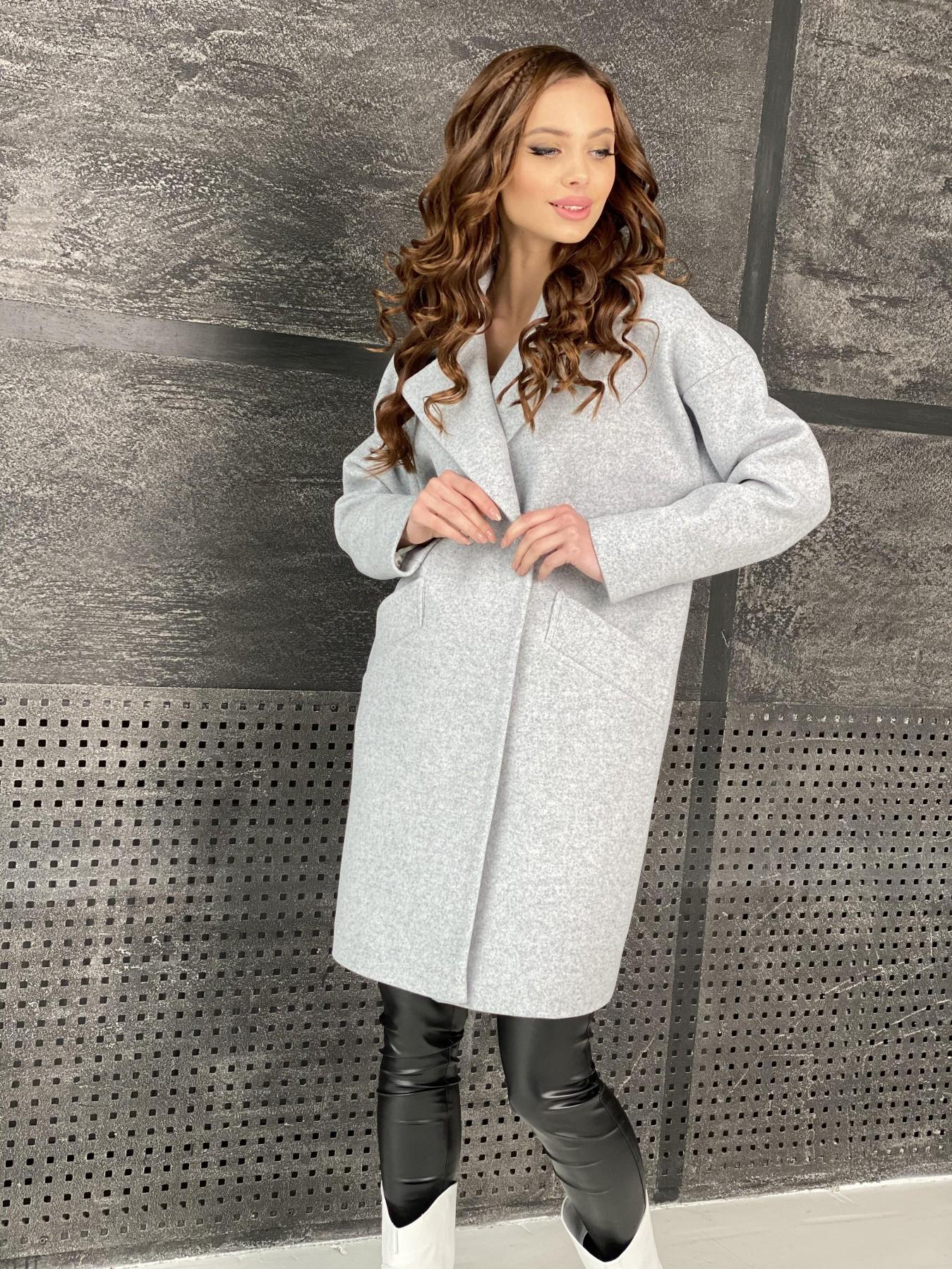 Сенсей пальто из кашемира меланж  10745 АРТ. 47223 Цвет: Серый Светлый 33 - фото 5, интернет магазин tm-modus.ru