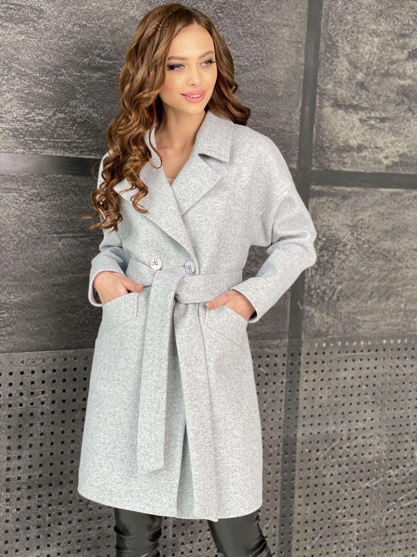 Сенсей пальто из кашемира меланж  10745 АРТ. 47223 Цвет: Серый Светлый 33 - фото 6, интернет магазин tm-modus.ru